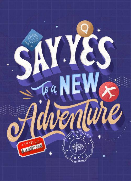 Diga sim para uma nova arte tipográfica de aventura