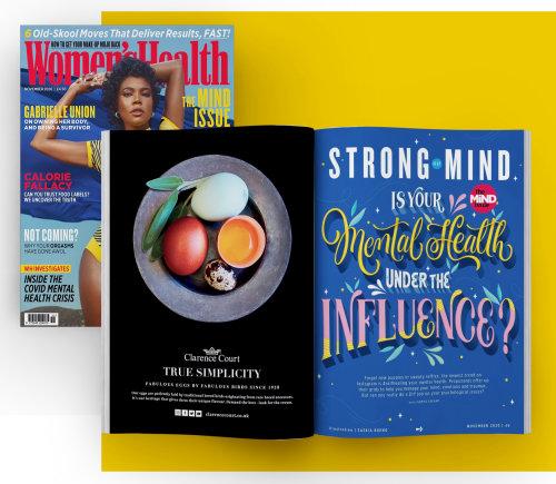 Ilustração da capa do livro para a Women's Health UK