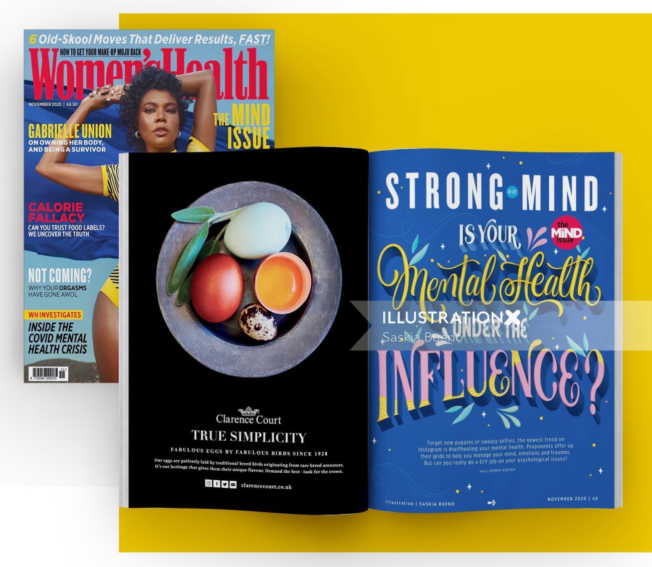 Book cover illustration for  Women's Health UK