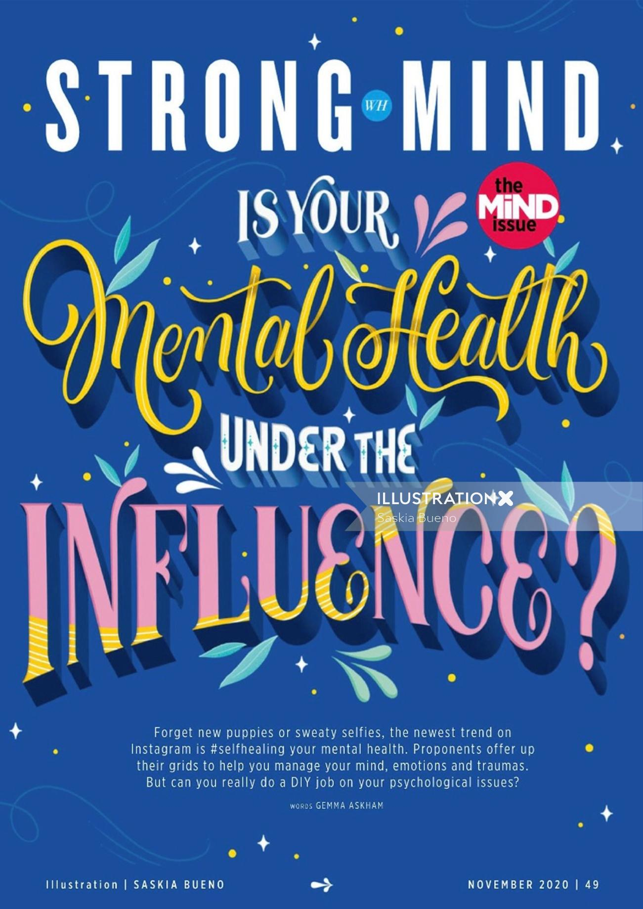 Strong mind poster design for Women's Health UK