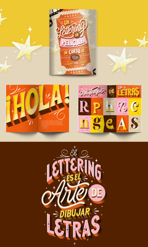 Pieces of my ipad lettering course