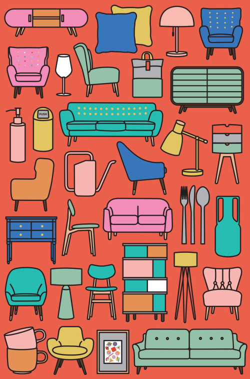 homeware, modern, pattern, furniture, print, poster, interior, homeware, chair, home, house, table,