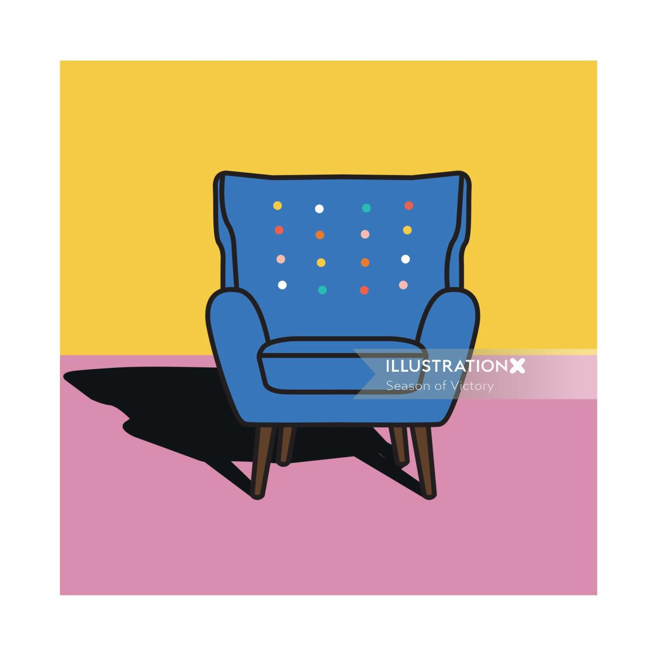 Graphic design of chair