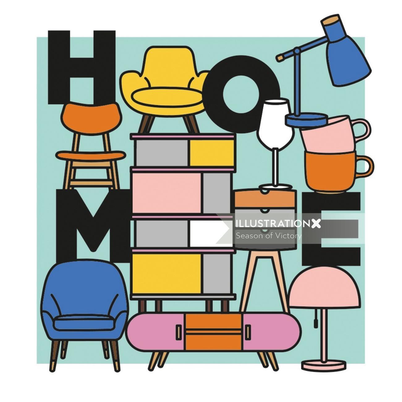 furniture, interior, homeware, modern, pattern, furniture, print, poster, interior, homeware, chair,