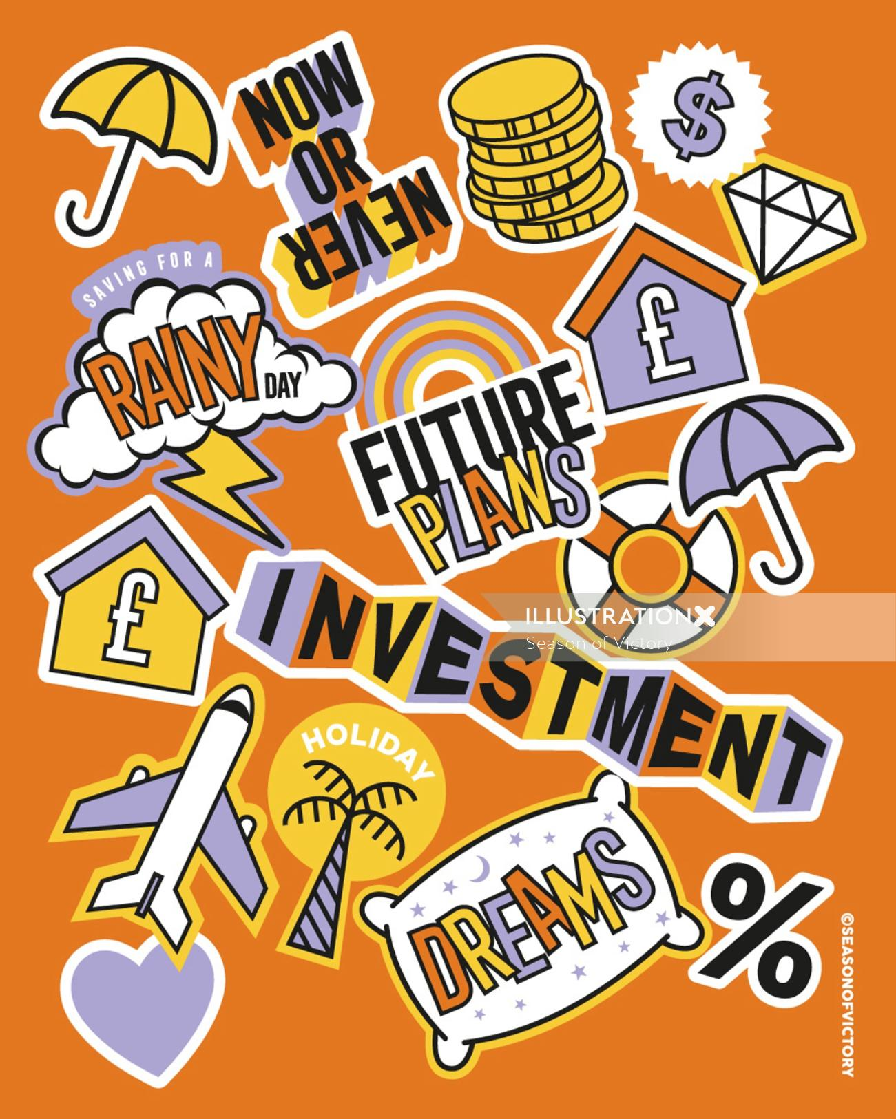 Banking and investment illustration