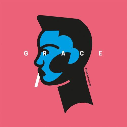 Grace Jones, music, musician, singer, female, empowerment,portrait, spot illustration, editorial ill