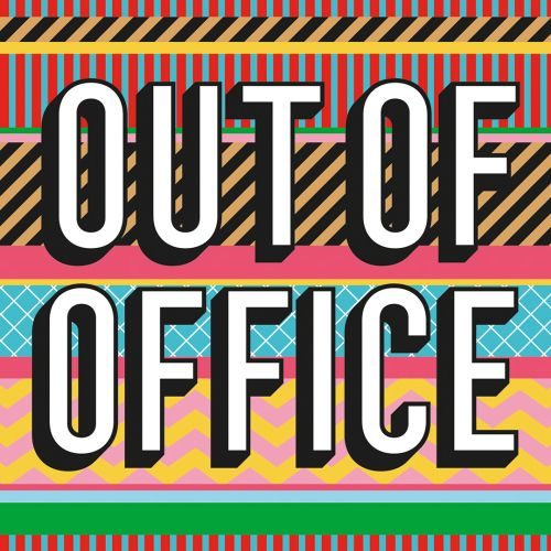 Out of office Lettering pattern