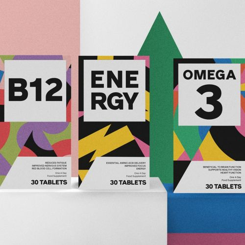 Colourful Pop art Packaging for Vitamins