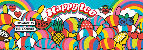 Poster design of happy ice life