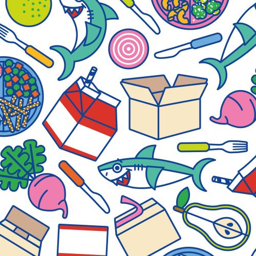 shark, kids, food, animals, cute, stickers, geofilters, pattern, icons, fruit, fish, packaging