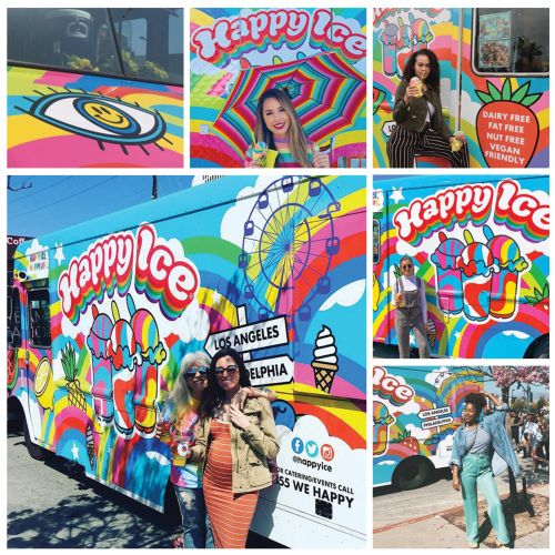 happy ice, frozen, dessrt, startup, foodtruck, rainbow, colorful, branding, colourful, ice cream, tr