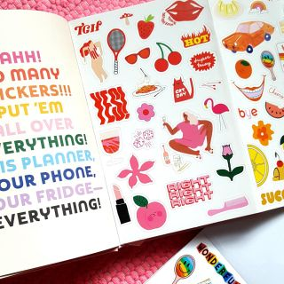 stickers, icons, sticker, stickerbook, mood, youth, planner, stationery, spot illustrations, milleni
