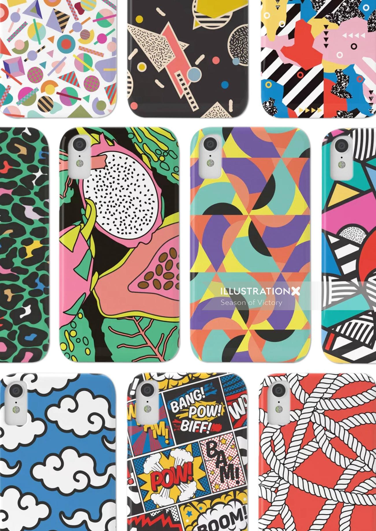 pattern, phone, phone cover, repeat pattern, geometric, colorful, colourful