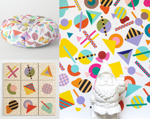 Pop art of Geometric pattern for home ware product