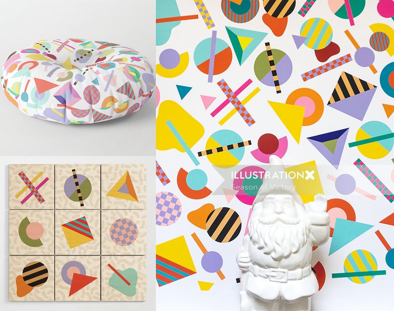 pop, color, pattern, wallart, poster, decorative, geometric