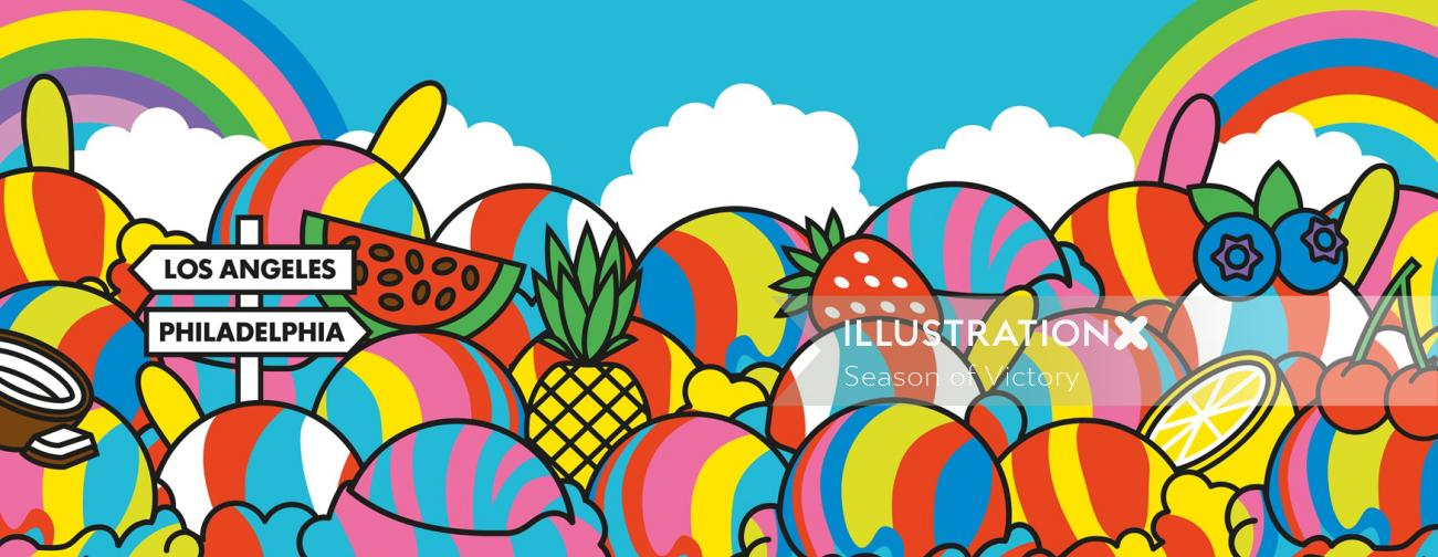 dessert, frozen food, fruit, fruits, food, drink, alcoholic drinks, dessrt, startup, ice cream