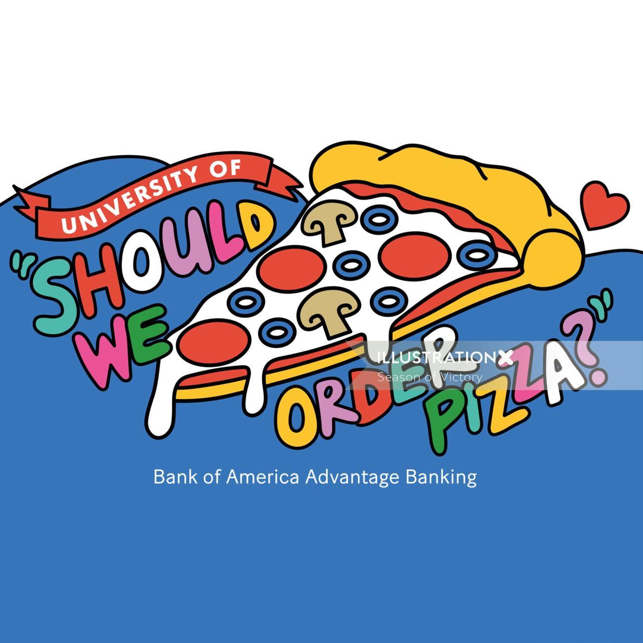 Lettering illustration of should we order pizza