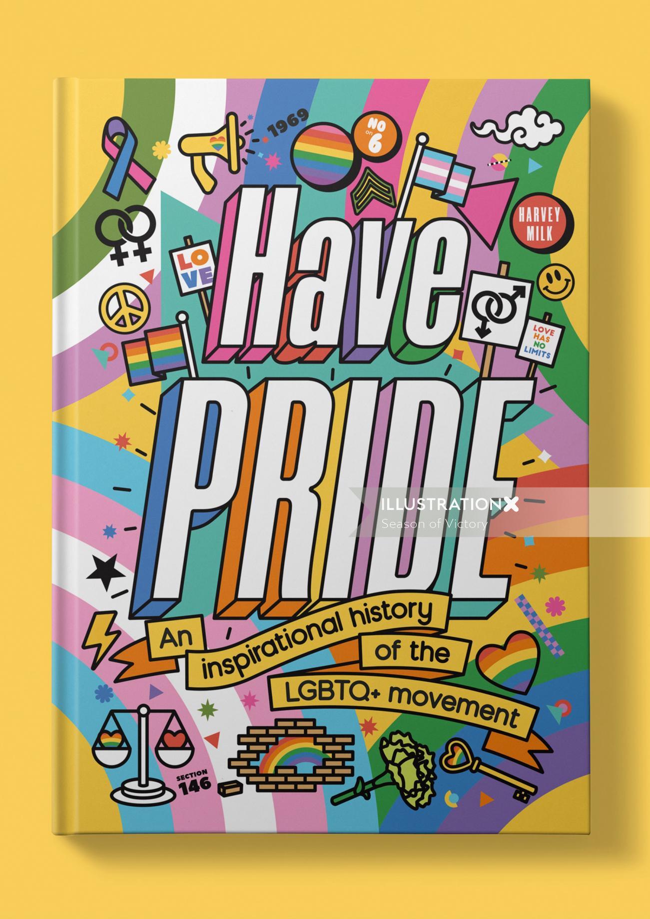 Book cover design of Have pride