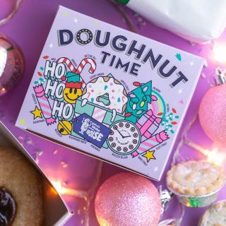 christmas, doughnut, shop, packaging, holiday, merry christmas, doughnut, food, sweets, treats, cand