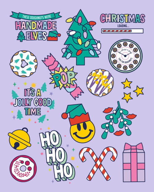 gif, stickers, christmas, holiday, merry christmas, elves, doughnut, restaurant, startup, food&drink