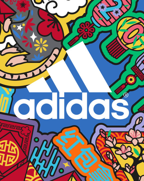 chinesenewyear, cny, cny2020, yearoftherat, adidas, adidasoriginals, adidasldn, badges, icons, anima