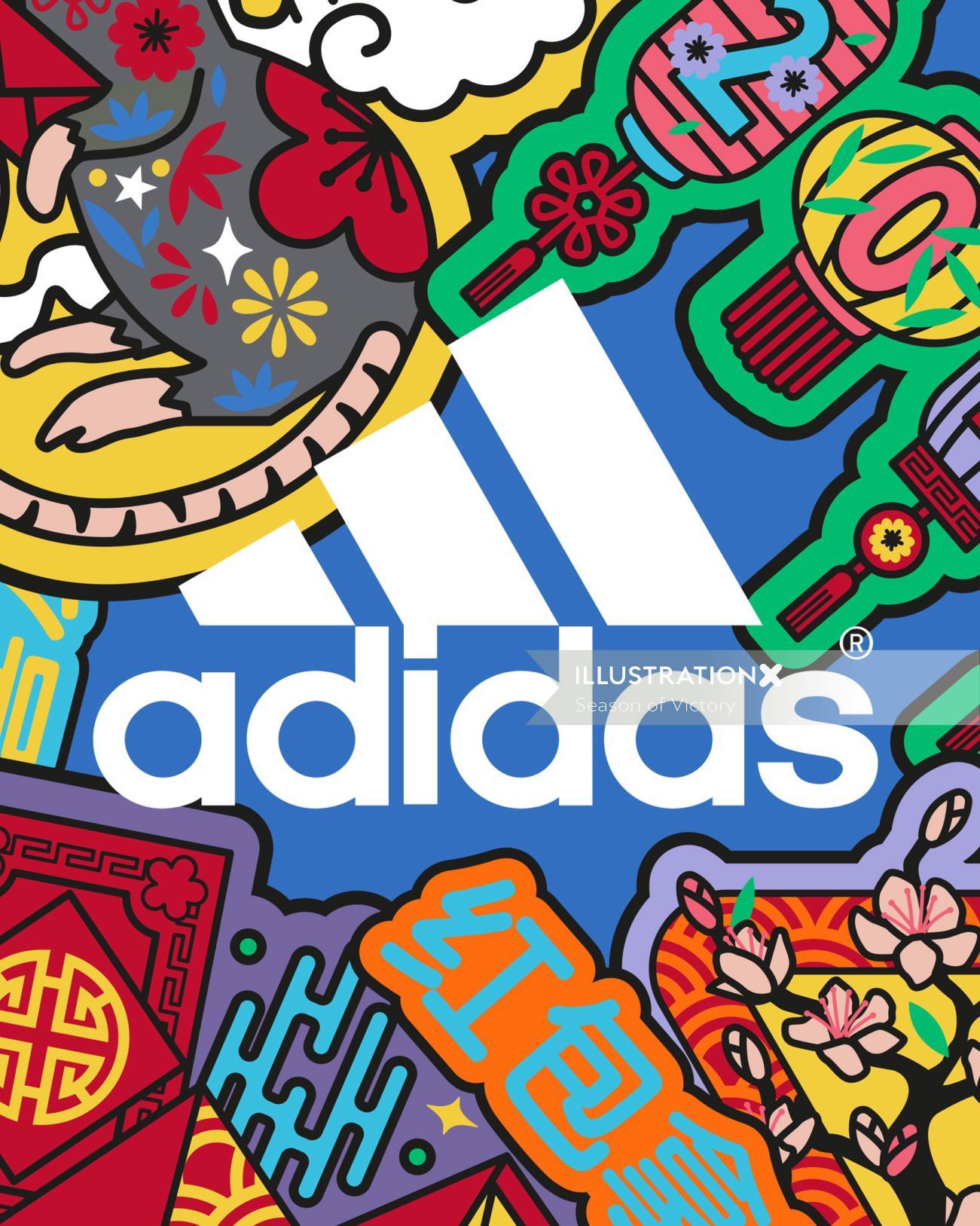 chinesenewyear, cny, cny2020, yearoftherat, adidas, adidasoriginals, adidasldn, badges, icons, anima