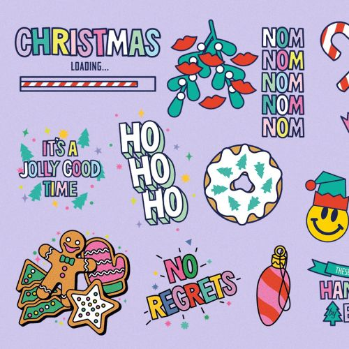 animated gif Christmas themed sticker for doughtnut Time
