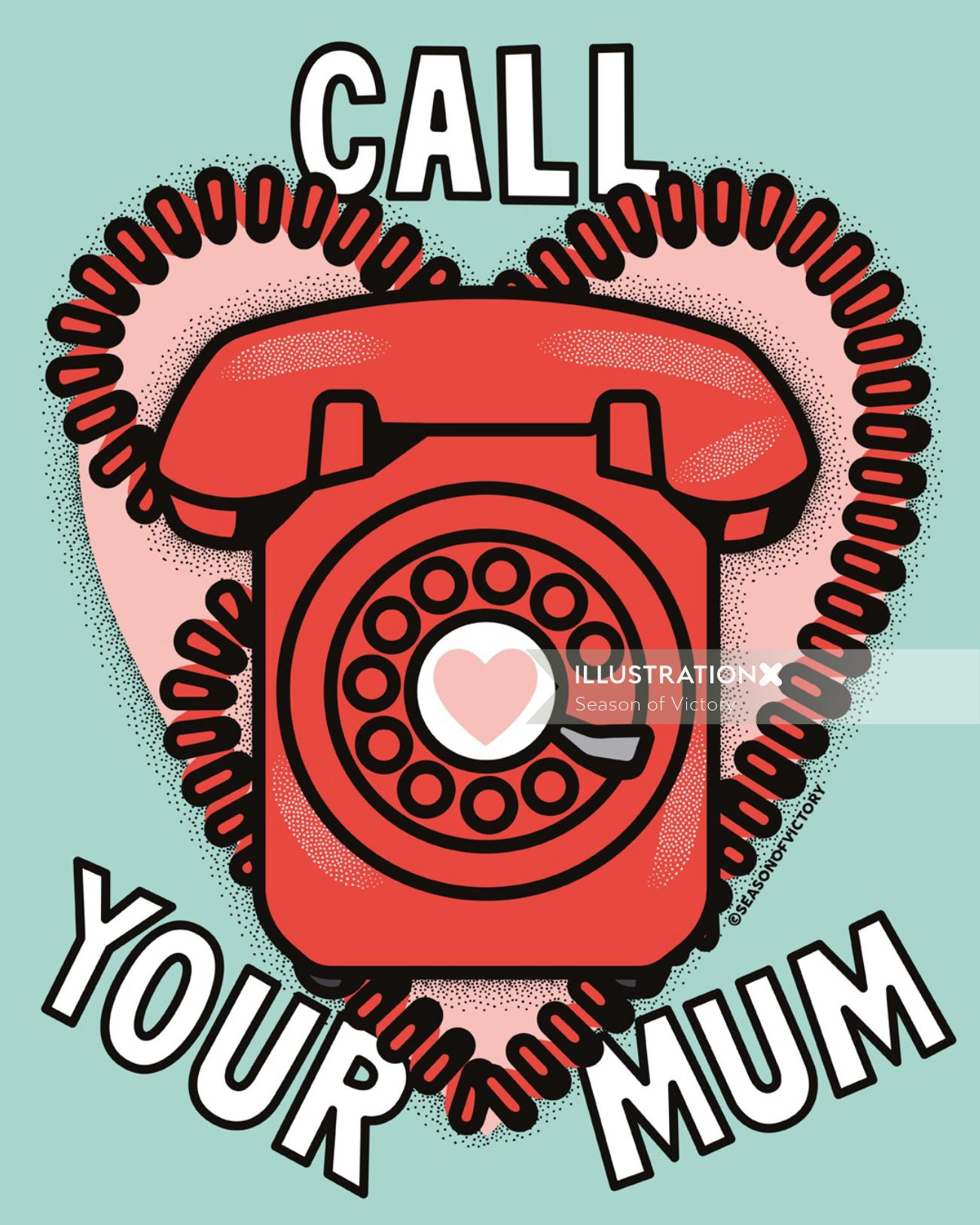 Mom, Mother's Day, love, phone, care, distance, telecommunications, mum, care, phone, telephone, ret
