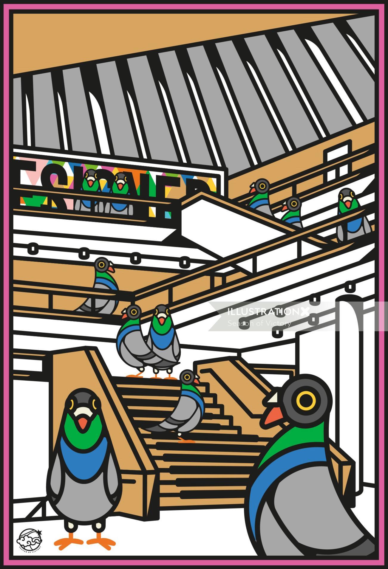 pigeon, pigeons, london, london skyline, buildings, london city scene, city scene, city, city scene,