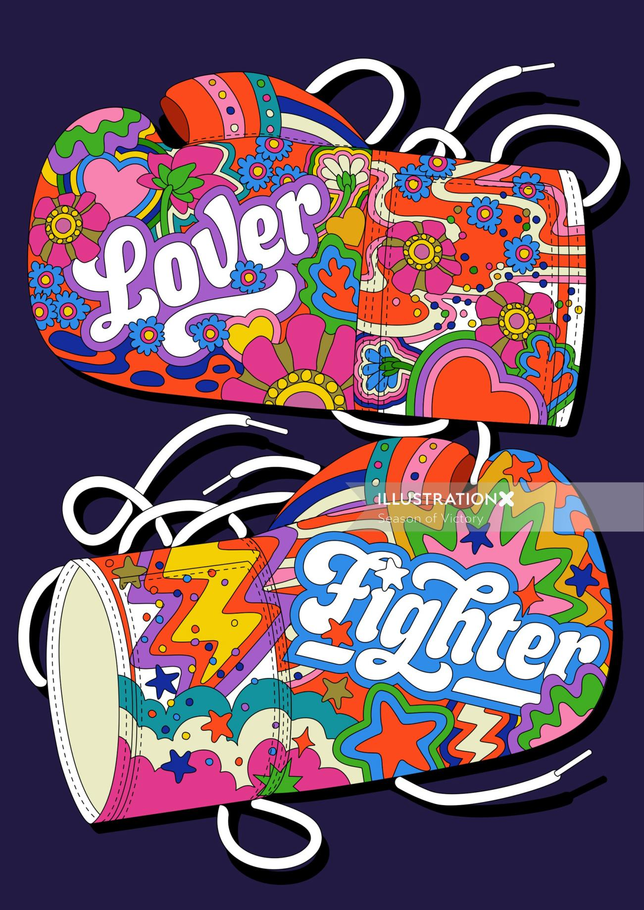 selfcare, selflove, mentalhealth, health, colorful, colourful, lover, fighter, pattern, love, packag
