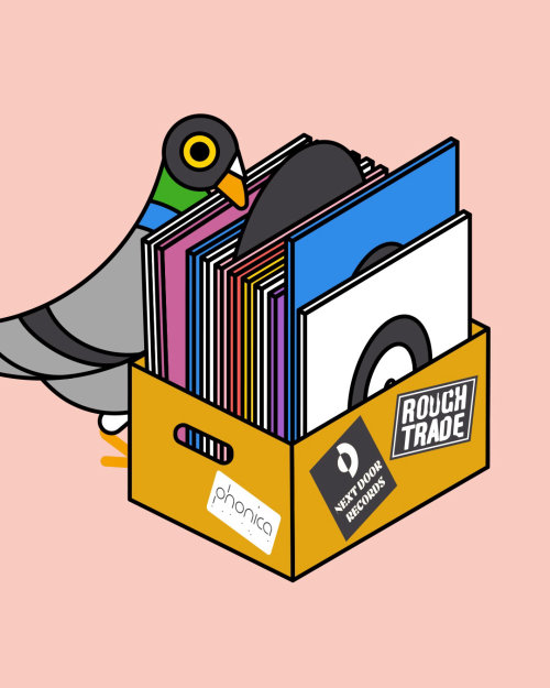 pigeon, london, records, vinyl, music, independent shops, independent shopping, stores, illustration
