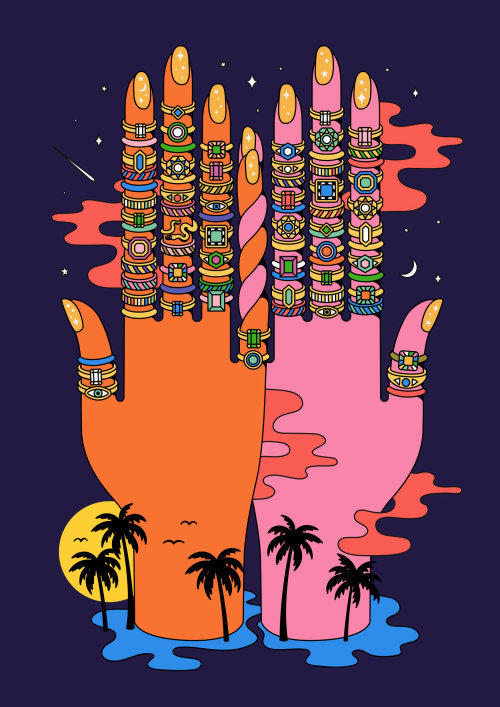 jewelry illustration, rings ring illustration, luxury, hands, tropical, travel, jewels, beauty, heal