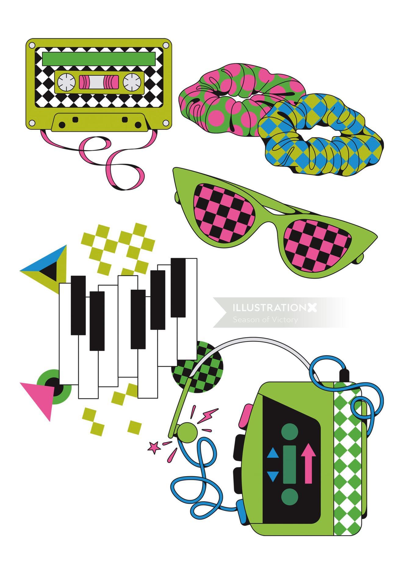 wine, 80s, 90s, food, drink, bottle, spot art, spot illustration, editorial illustration, editorial