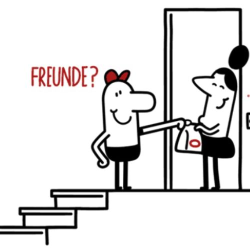 Freunde line art animation