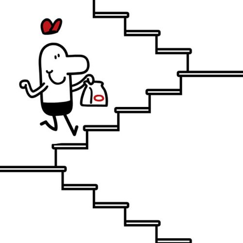 climbing stairs animation
