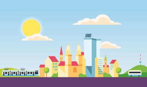 Graphic city buildings