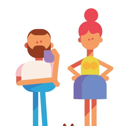 Vector art of beautiful couple