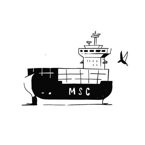 MSC Cruise gif animation