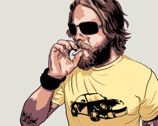Man with cigar, fashion illustration