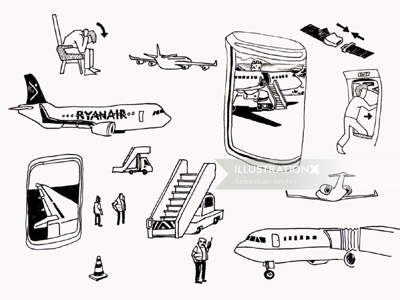 Sebastian Iwohn illustrator - transport illustration