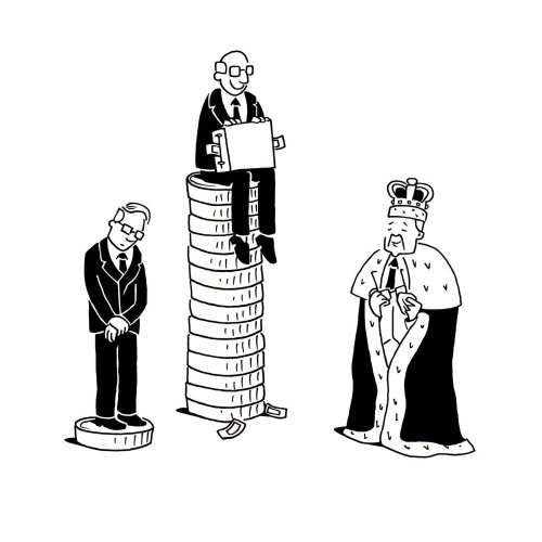 Black and white People with money