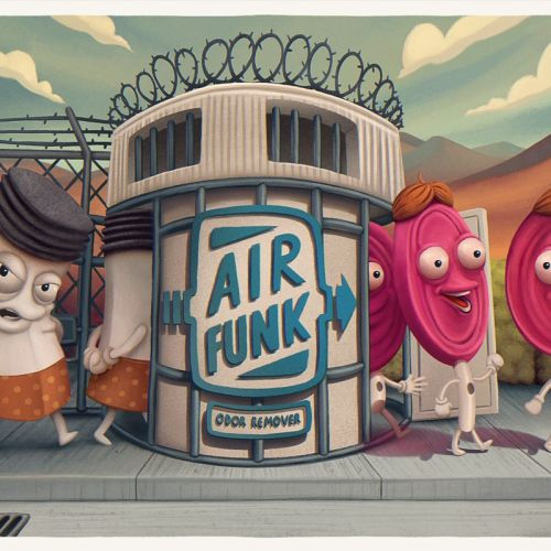 Air Funk Odor Remover Advertising poster