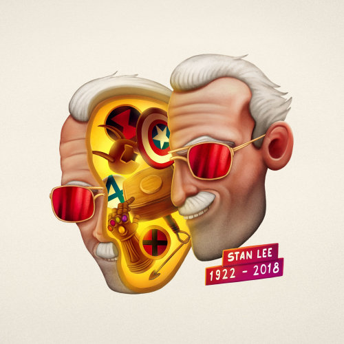 Conceptual art of Stan Lee for Tulzo Clothing Company