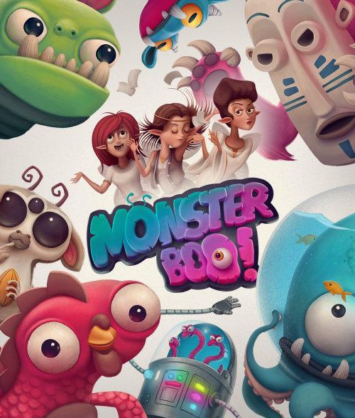Monster Boo, Children's board game illustration