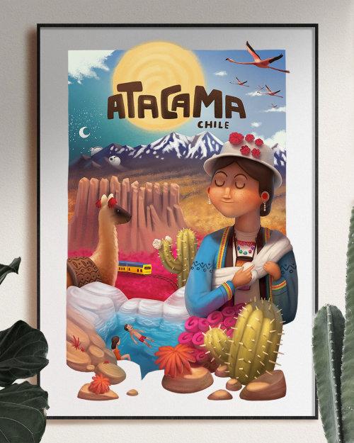 Atacama Chile advertising poster