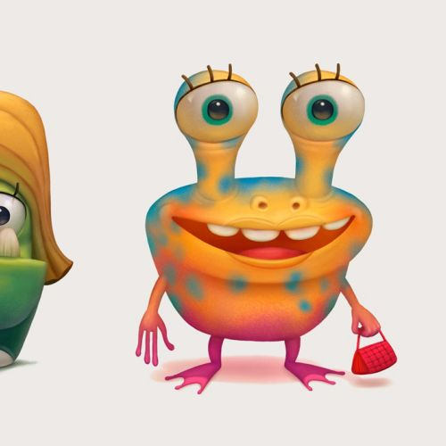Sergio Edwards designed Momster characters
