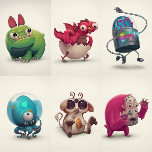 Monster Boo Characters design by Sergio Edwards