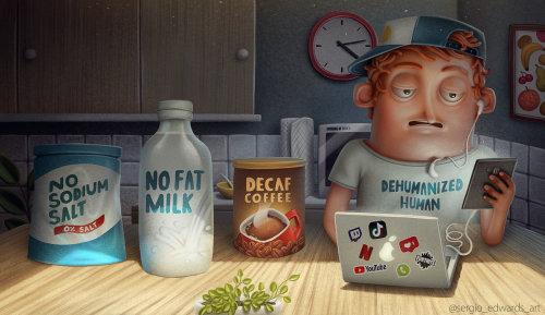 Character design No fat milk
