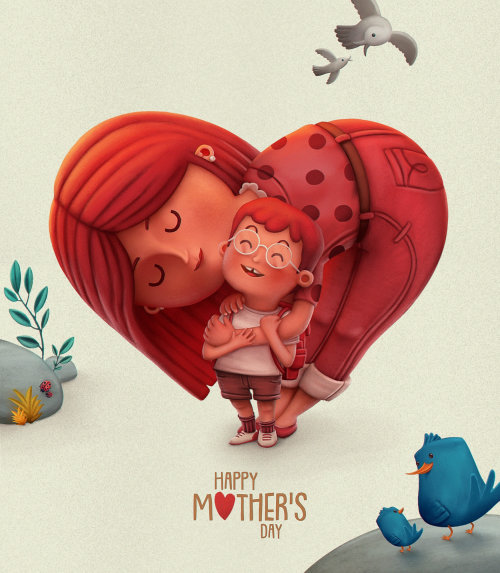Happy mothers day graphic poster by Sergio Edwards