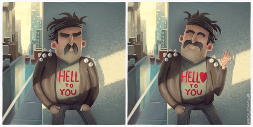 Character design Hello to you